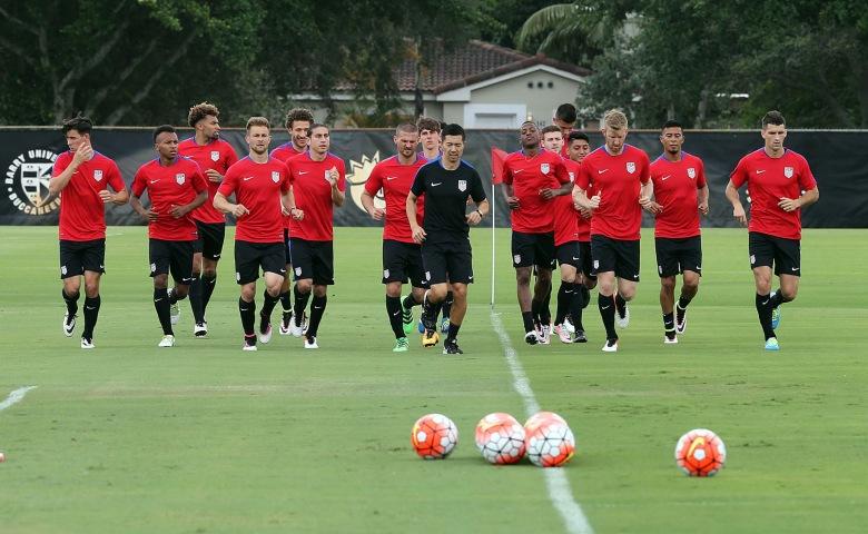 U.S. soccer Men's National Team training session