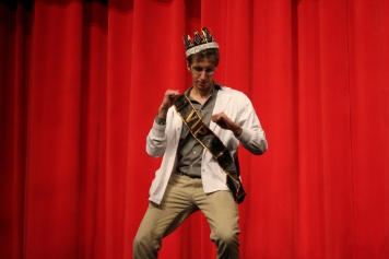 Conner Beheydt does his victory dance after being crowed winner of Mr. WHS. Photo by Emily Thompson