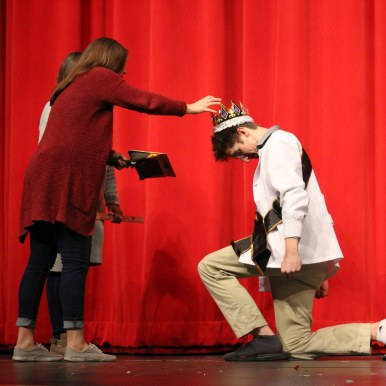 Connor Beheydt is crowned Mr.WHS. Photo by Emily Thompson